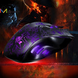 Rechargeable 2400 DPI Optical  Wired Gaming Mouse