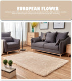 Solid Color Living Room Area Fashion Home Carpet