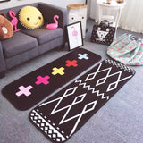 180*50cm Flannel The Nordic Popular Sunglasses Cat Geometry Carpet