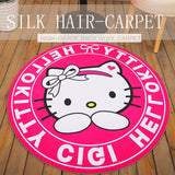 Cute Anime Cartoon Round Rug Chair Mats
