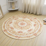 Round Jacquard Countryside Carpets For Living Room