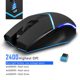 Zelotes F12 Wireless Mouse with Nano Receiver 2.4G Portable Mobile Gaming Mouse