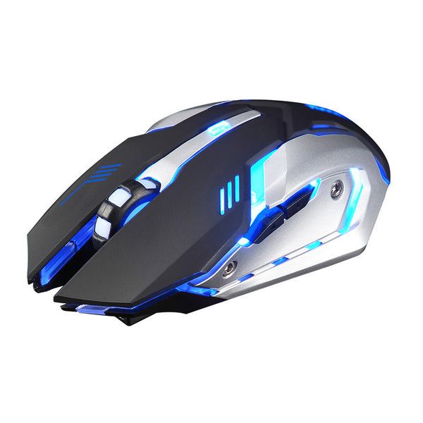 Rechargeable Lightning Bolt Silent Gaming Mouse