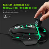 Mechanical USB Wired Gaming Mouse 3200DPI 11 Buttons Macro Definition For PUBG
