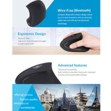Wireless Bluetooth Mouse Game Ergonomic Design Vertical Mouse 1600DPI USB Mice