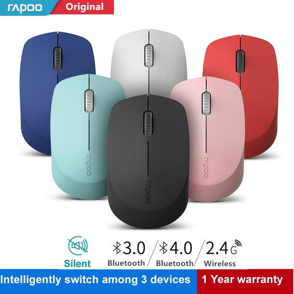 Silent Wireless Optical Mouse with Bluetooth