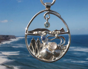 Worm's Head Gower landscape necklace by Gower silversmith Pa-pa
