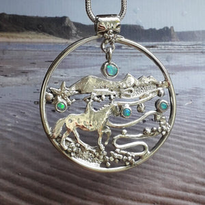 Three Cliffs Bay Horesrider Necklace.