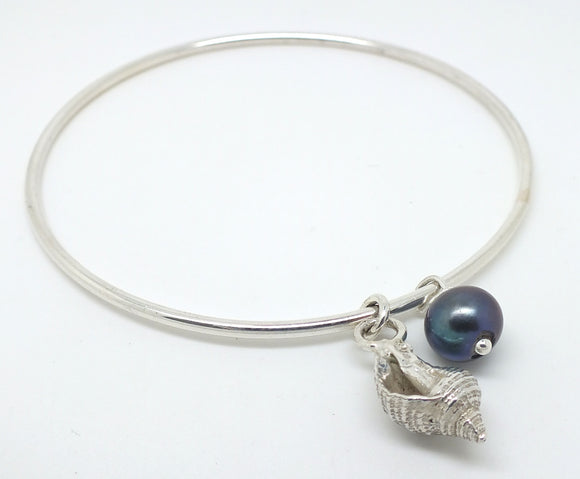 Whelk shell bracelet