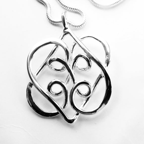 Celtic heart entwined necklace