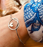 Heart of friendship bangle