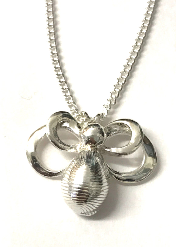 Bee cowrie shell necklace