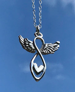 Angel heart necklace