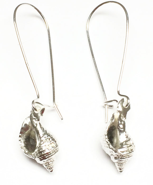 Long whelk shell earrings