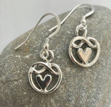 Heart knot of friendship earrings