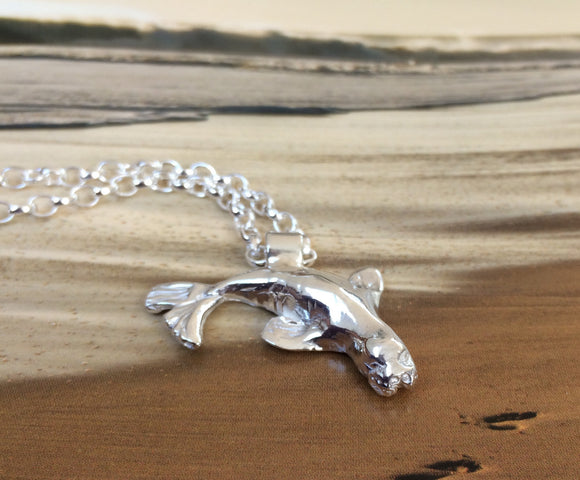 Grey seal necklace