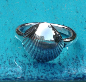 Silver cockle ring by Pa-pa jewellery