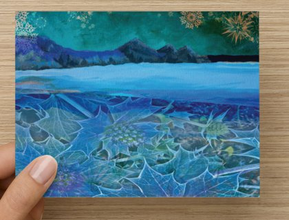 There Cliffs Bay sea holly card