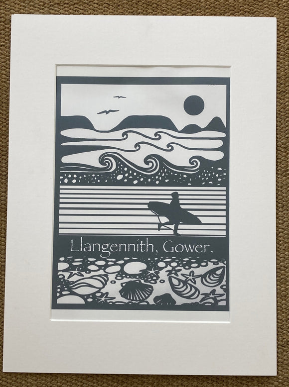 Worm's Head surfer print