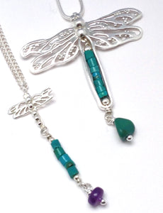 Turquoise dragonfly necklace
