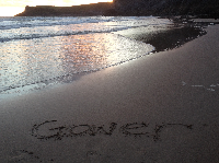 Gower sand card