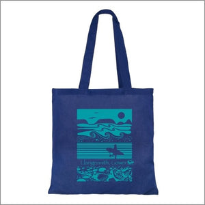 Gower beach Cotton surfer tote bag