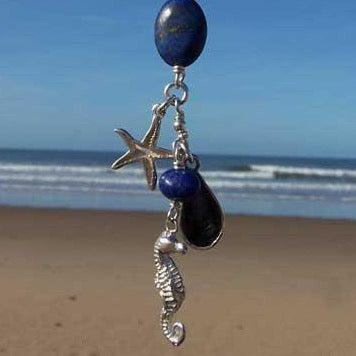 Seahorse charm necklace by Pa-pa jewellery