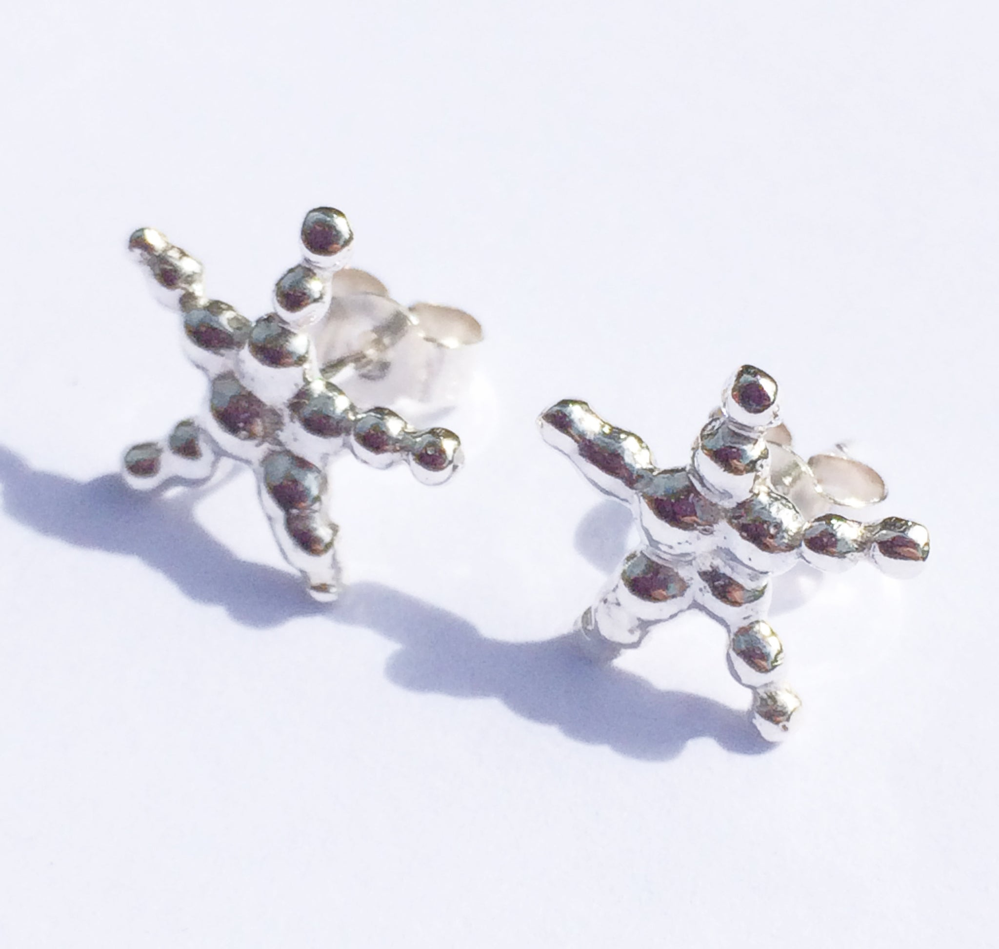 starfish plated pin stud earrings gold products