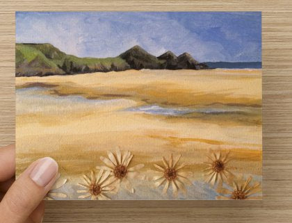 Three Cliffs daisy card