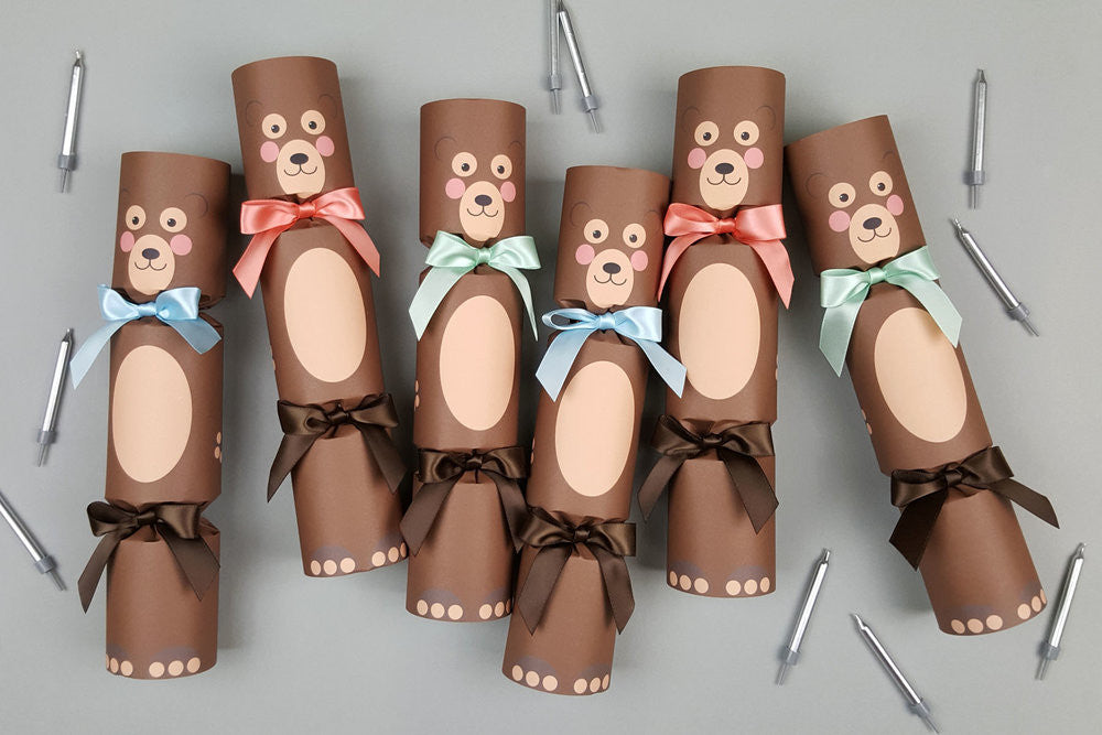 BIRTHDAY BEAR PARTY LUXURY CRACKERS