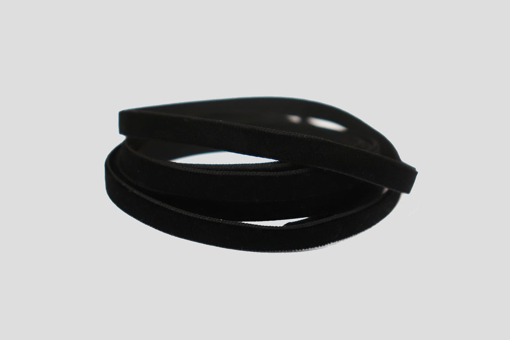 VELVET RIBBON - BLACK - 5m