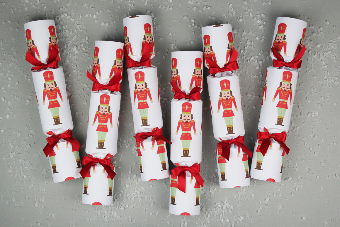 6 Christmas crackers with Nutcracker design | Nancy & Betty Studios