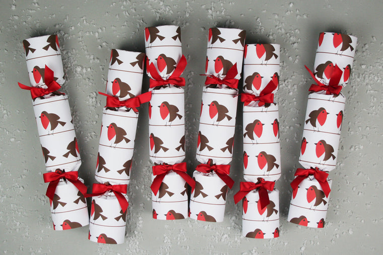 Luxury Robin Christmas crackers