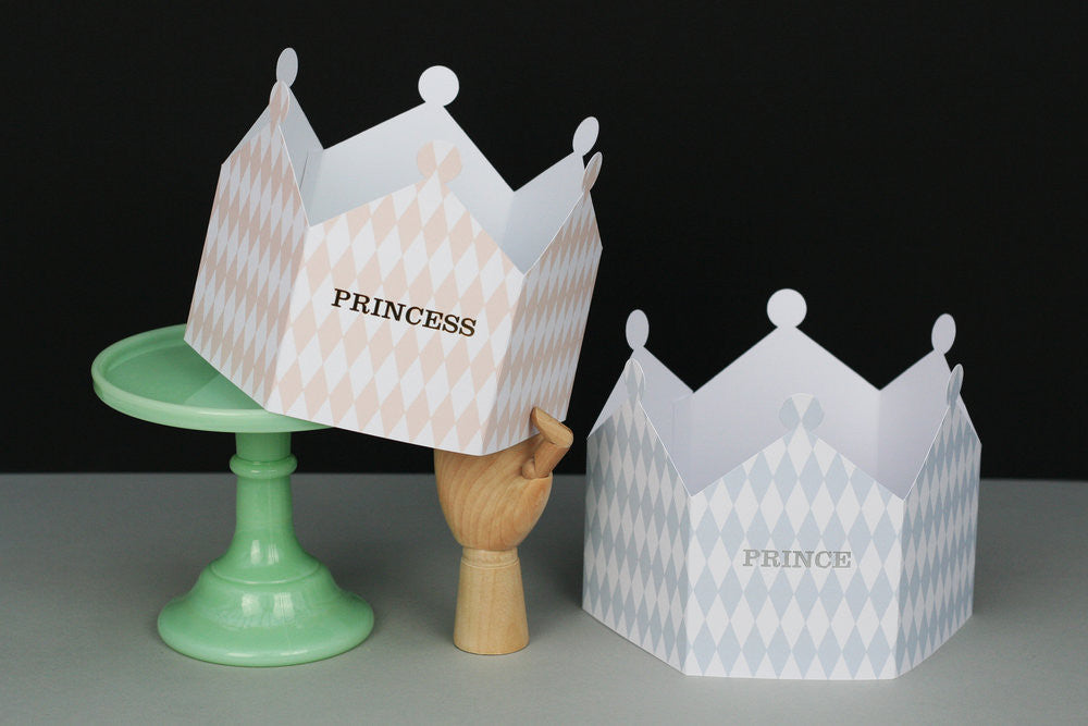 HARLEQUIN PRINCE & PRINCESS CROWN CARD