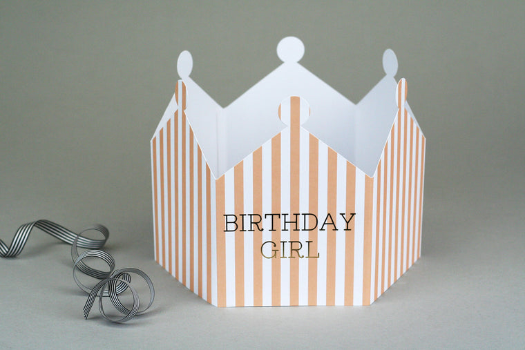 BIRTHDAY GIRL CROWN CARD - LIMITED STOCK