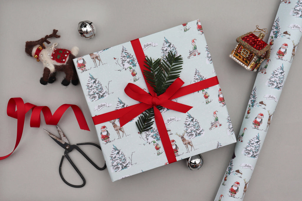 north pole christmas xmas wrapping paper luxury gift wrap recyclable wrapping paper