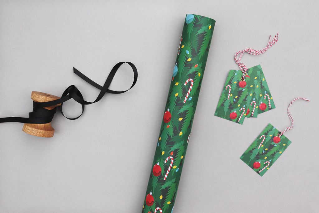 CHRISTMAS TREE WRAPPING PAPER BUNDLE