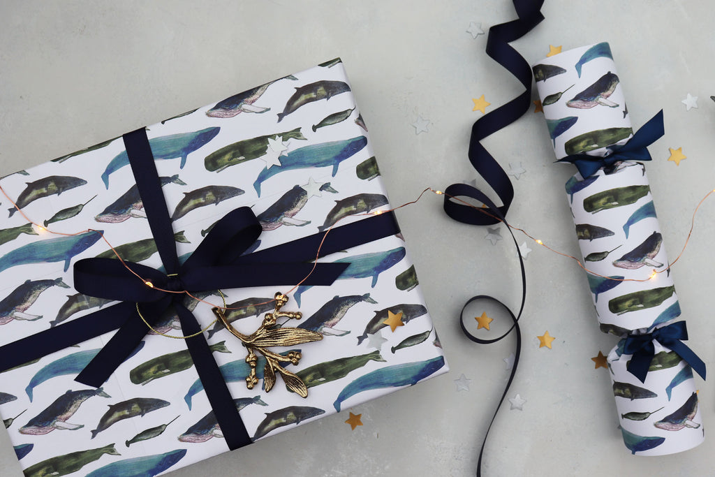WINTER WHALES LUXURY CHRISTMAS CRACKERS