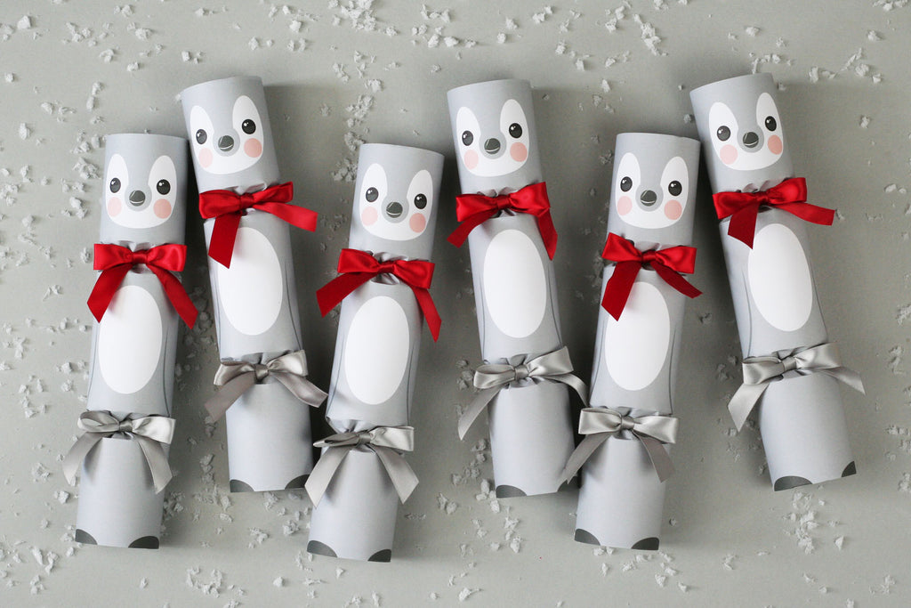 Kids Christmas crackers - penguin design | Nancy & Betty Studio