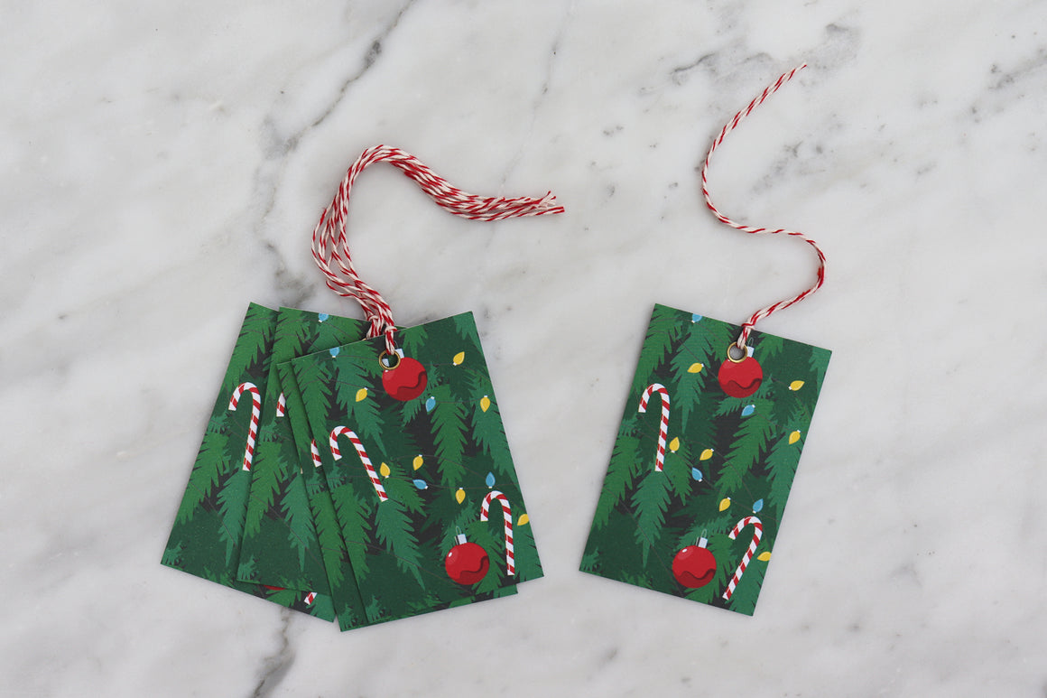 CHRISTMAS TREE CHRISTMAS GIFT TAGS