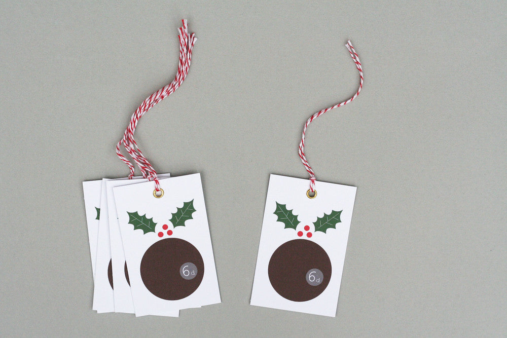 CHRISTMAS PUDDING GIFT TAGS