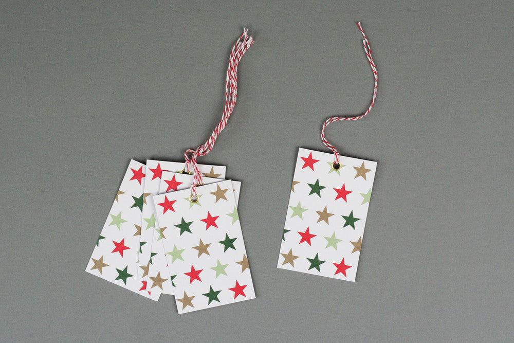 STARS CHRISTMAS WRAPPING PAPER