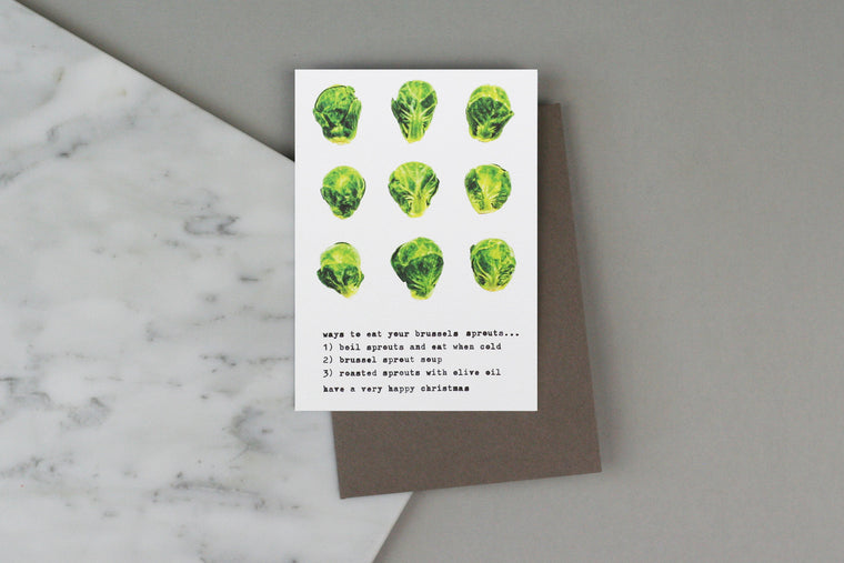 brussels sprouts christmas card xmas box set pack charity luxury harrods selfridges liberty