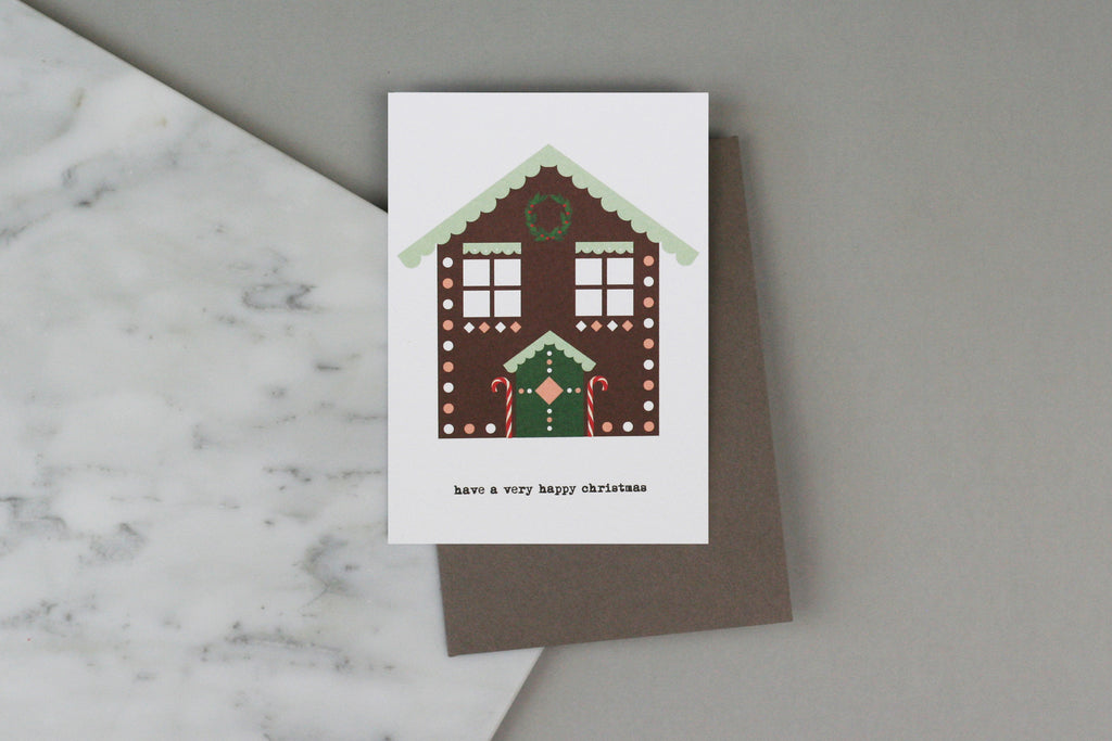christmas chalet gingerbread house card xmas pack set box charity