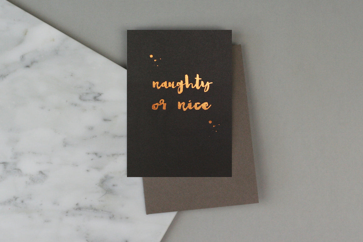 naughty or nice christmas xmas card pack set box charity