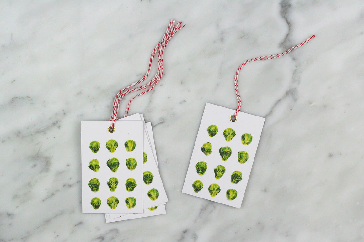 BRUSSELS SPROUT CHRISTMAS GIFT TAGS