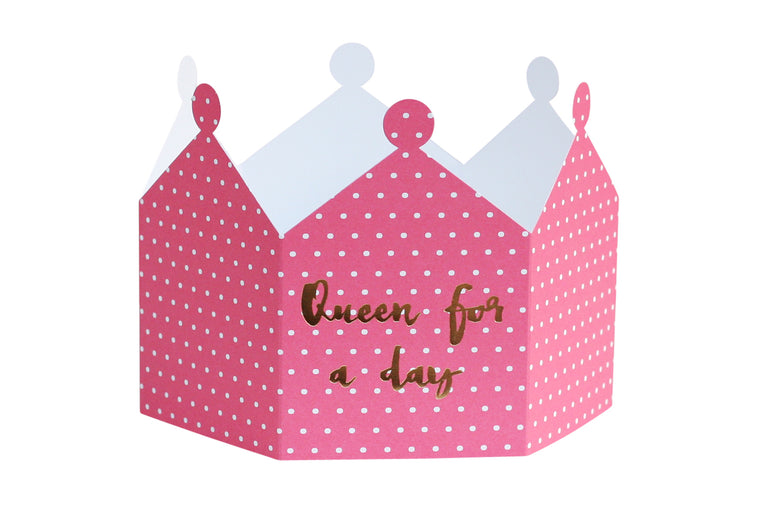 QUEEN FOR A DAY CROWN CARD - LIMITED STOCK