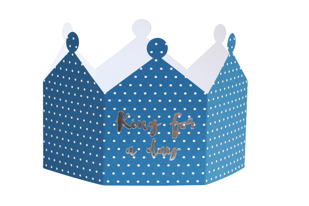 KING FOR A DAY CROWN CARD - LIMITED STOCK