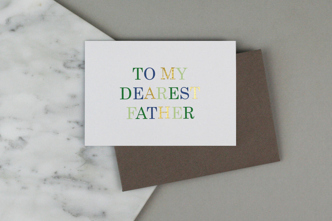 TO MY DEAREST FATHER CARD
