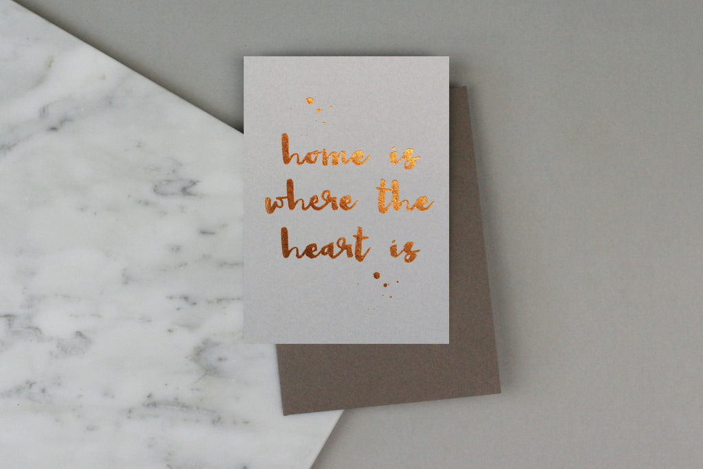 OXFORD - HOME IS WHERE THE HEART IS CARD
